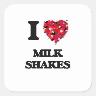 I Love Milk Shakes Square Sticker