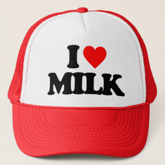 I LOVE MILK TRUCKER HAT