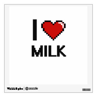 I Love Milk Wall Sticker