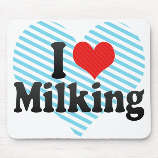 I Love Milking Mouse Pad