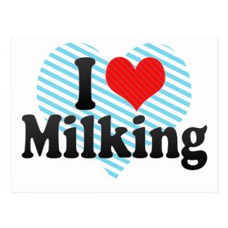 I Love Milking Postcard