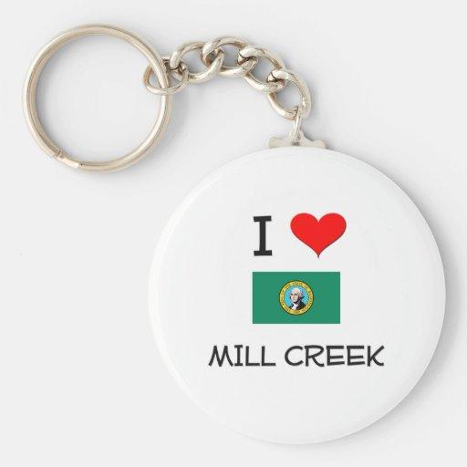 I Love Mill Creek Washington Key Chain