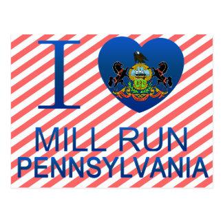 I Love Mill Run, PA Postcard