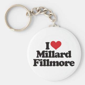 I Love Millard Fillmore Basic Round Button Keychain