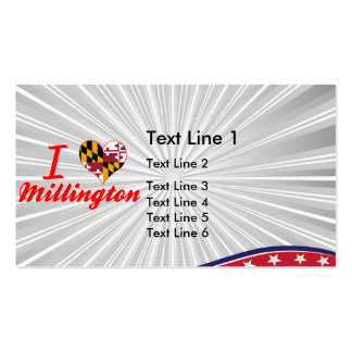I Love Millington, Maryland Double-Sided Standard Business Cards (Pack Of 100)