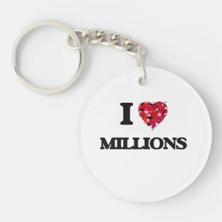 I Love Millions Single-Sided Round Acrylic Keychain