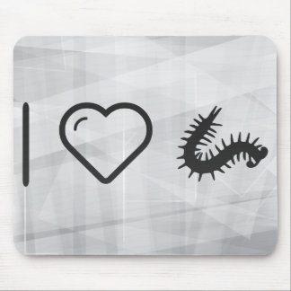 I Love Millipedes Mouse Pad