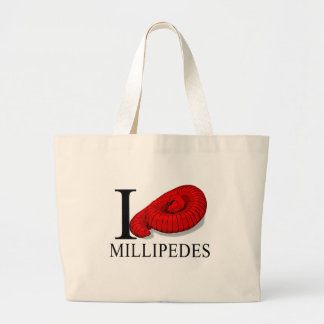 I Love Millipedes Tote Bags