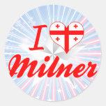 I Love Milner, Georgia Sticker