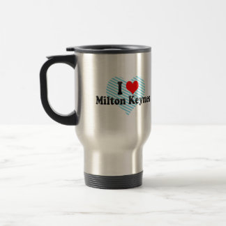 I Love Milton Keynes, United Kingdom 15 Oz Stainless Steel Travel Mug