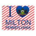 I Love Milton, PA Post Card
