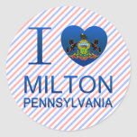 I Love Milton, PA Round Stickers