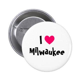 I Love Milwaukee 2 Inch Round Button