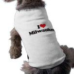 I Love Milwaukee Doggie Tee Shirt