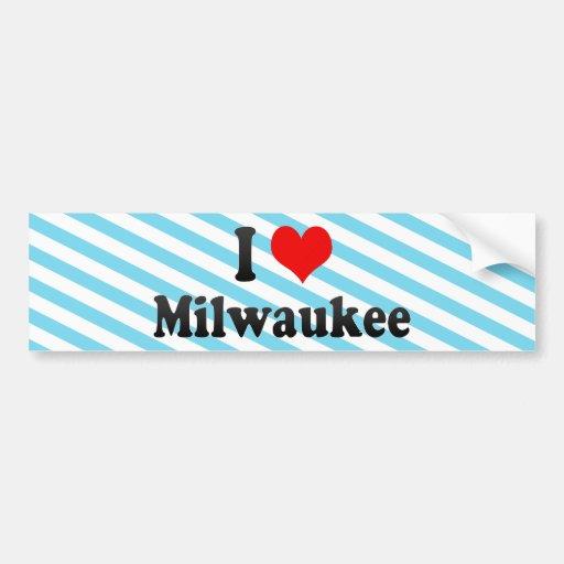 I Love Milwaukee, United States Bumper Sticker