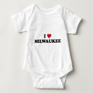 I Love Milwaukee Wisconsin Baby Bodysuit