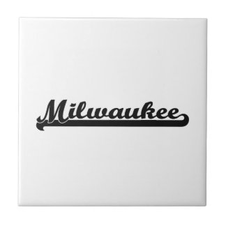 I love Milwaukee Wisconsin Classic Design Small Square Tile