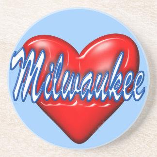 I Love Milwaukee Wisconsin Coasters