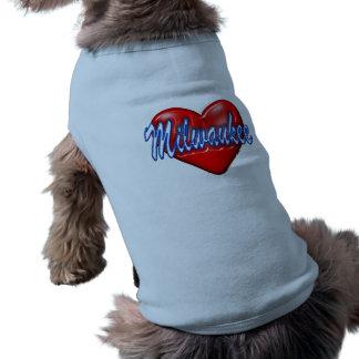 I Love Milwaukee Wisconsin Pet T-shirt