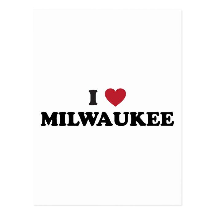 I Love Milwaukee Wisconsin Postcard