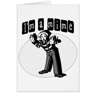 I Love Mimes Card