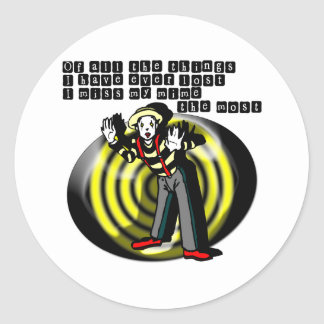 I Love Mimes Classic Round Sticker
