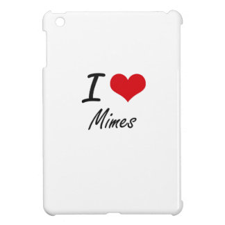 I Love Mimes iPad Mini Covers