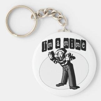 I Love Mimes Keychain