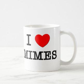 I Love Mimes Coffee Mug