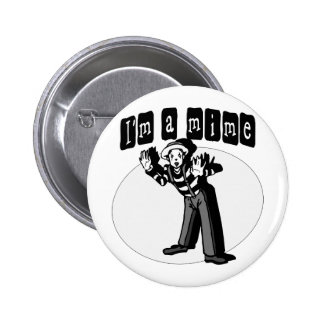 I Love Mimes Pinback Button