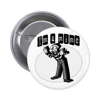 I Love Mimes Pinback Button