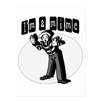 I Love Mimes Postcard