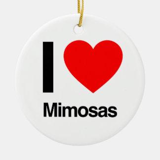 i love mimosas ceramic ornament