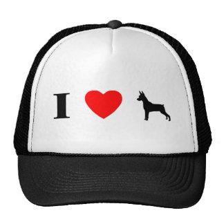 I Love Min Pins Hat