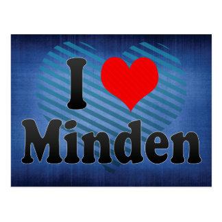I Love Minden, Germany. Ich Liebe Minden, Germany Postcard