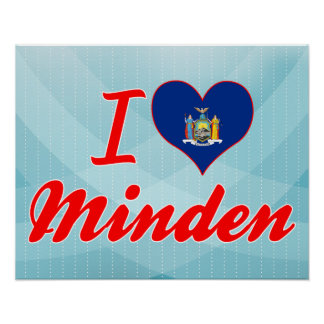 I Love Minden, New York Posters
