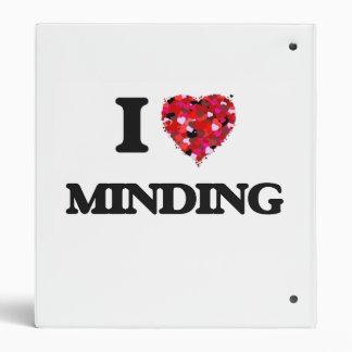 I Love Minding 3 Ring Binders