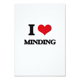 I Love Minding 3.5x5 Paper Invitation Card