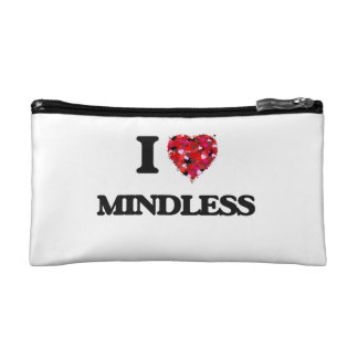 I Love Mindless Cosmetic Bags