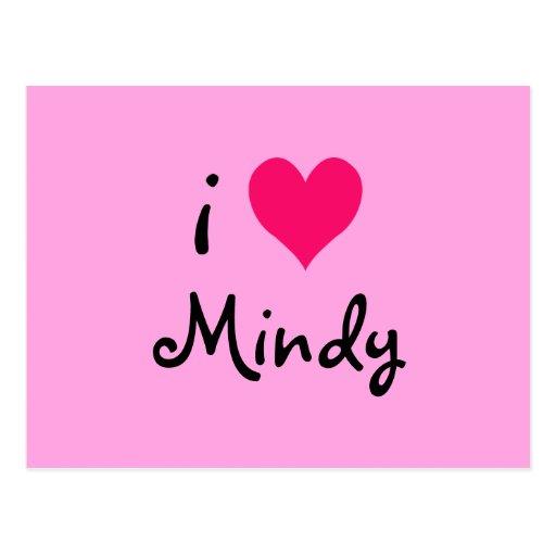 I Love Mindy Post Cards