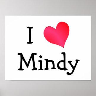 I Love Mindy Print