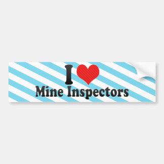 I Love Mine Inspectors Car Bumper Sticker