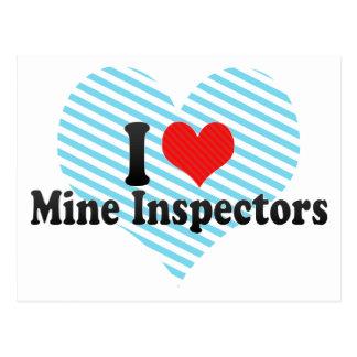 I Love Mine Inspectors Postcard