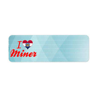 I Love Miner, Missouri Return Address Label
