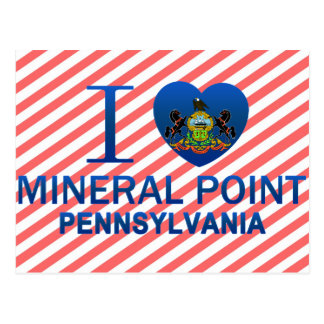 I Love Mineral Point, PA Postcard