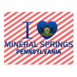I Love Mineral Springs, PA Postcard