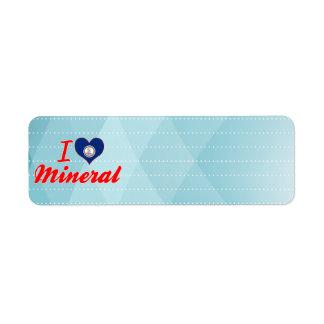 I Love Mineral, Virginia Custom Return Address Labels