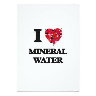 I Love Mineral Water 5x7 Paper Invitation Card