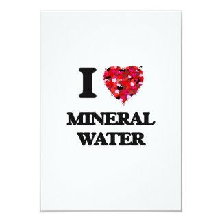 I Love Mineral Water 3.5x5 Paper Invitation Card