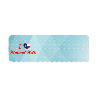 I Love Mineral Wells, Texas Custom Return Address Labels